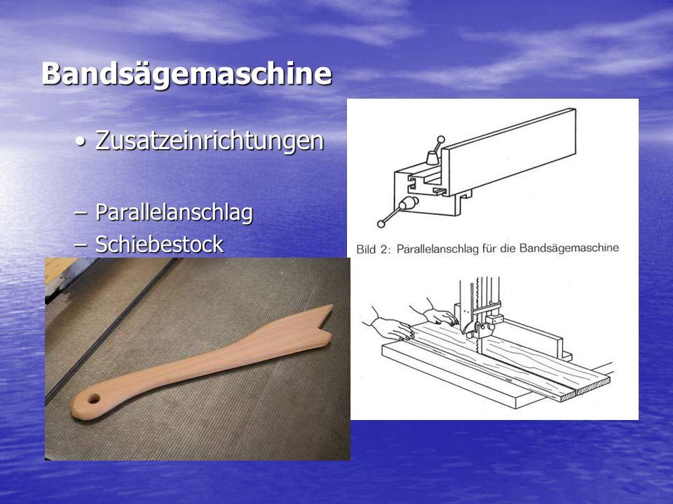 Bandsägemaschine Zusatzeinrichtungen Foto schibestock Parallelanschlag