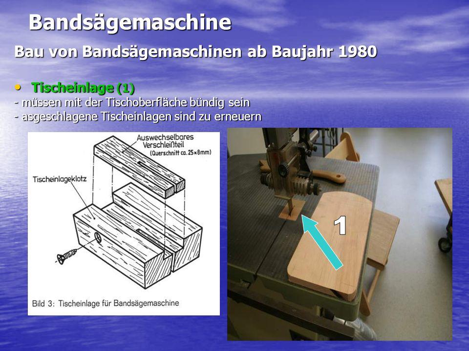 1 Bandsägemaschine Bau von Bandsägemaschinen ab Baujahr 1980