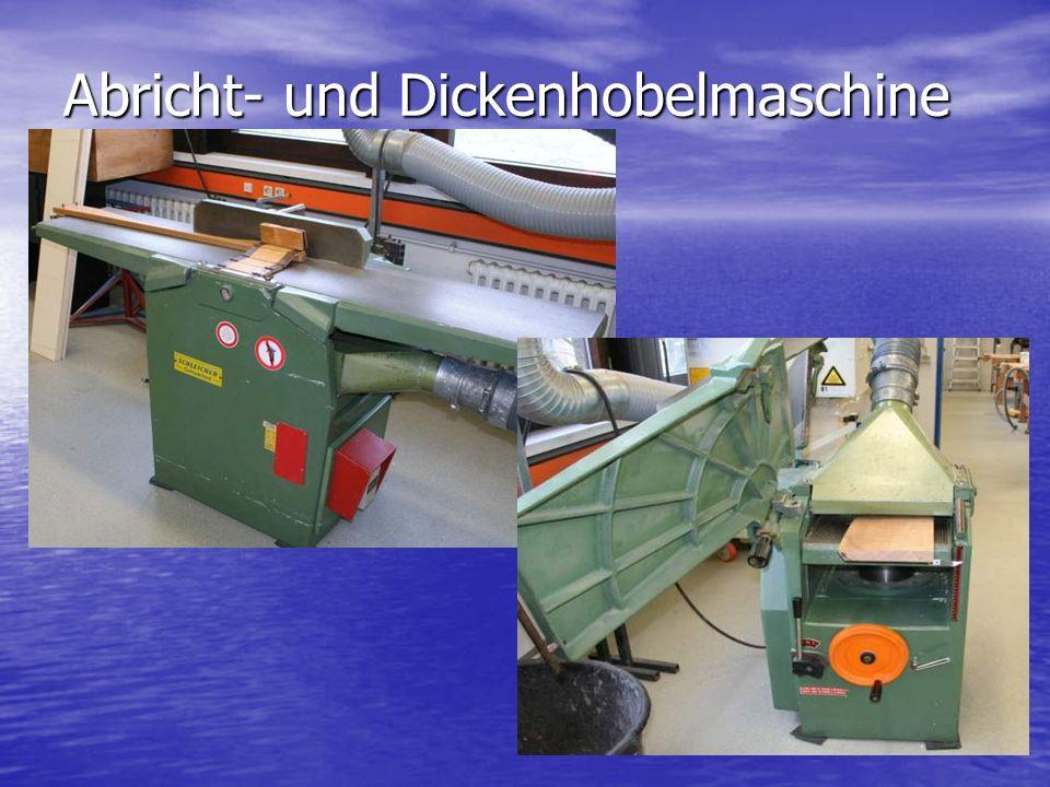 Abricht- und Dickenhobelmaschine
