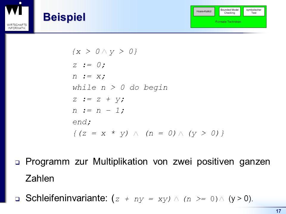 Beispiel {x > 0 y > 0}