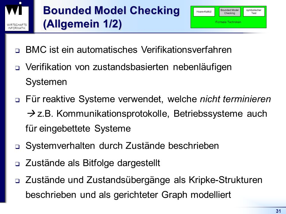 Bounded Model Checking (Allgemein 1/2)