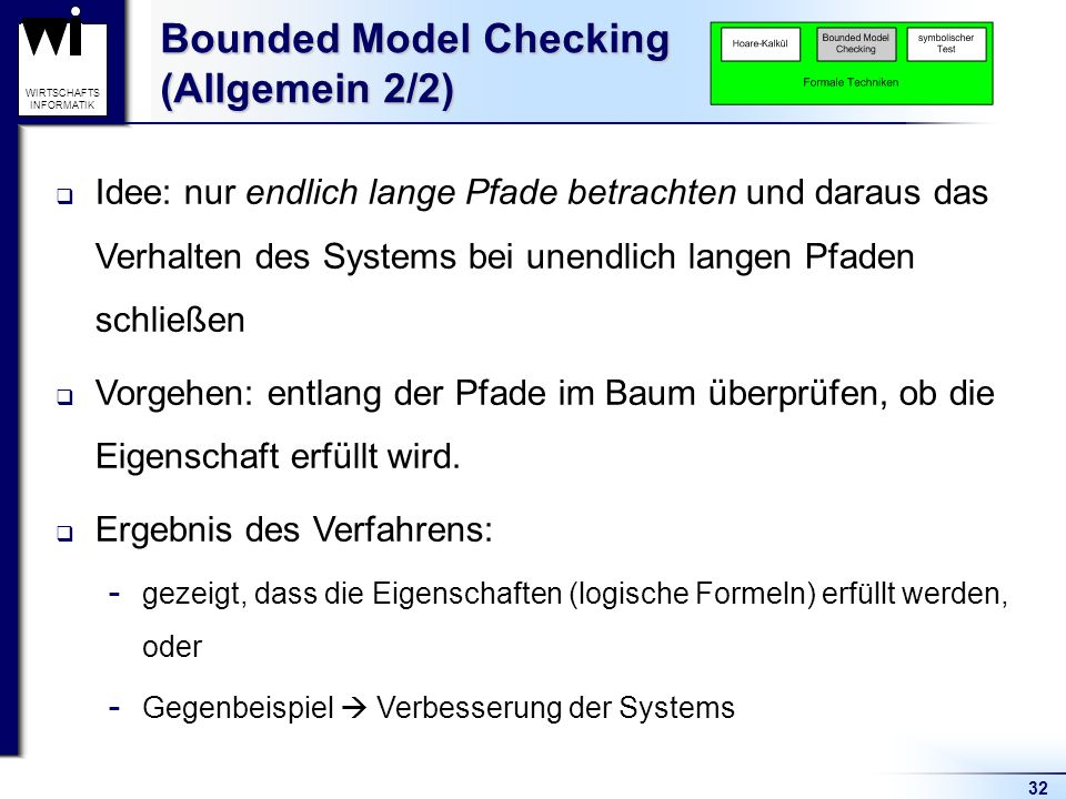 Bounded Model Checking (Allgemein 2/2)