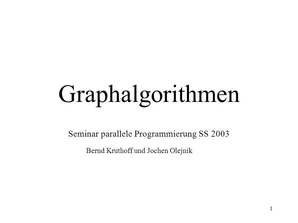 Seminar parallele Programmierung SS 2003
