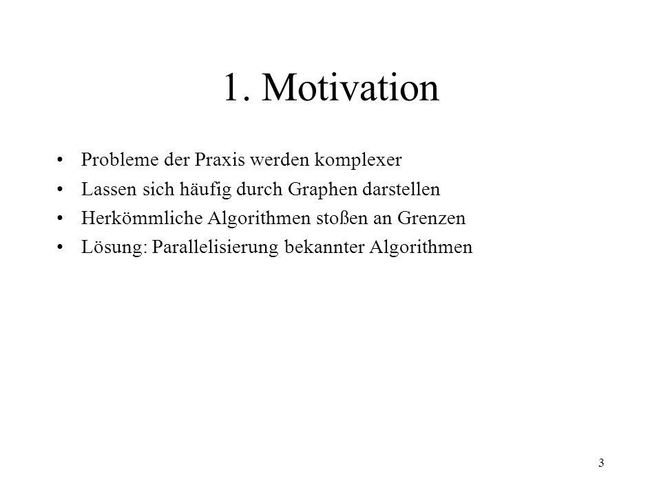 1. Motivation Probleme der Praxis werden komplexer