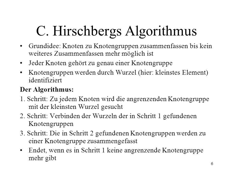 C. Hirschbergs Algorithmus