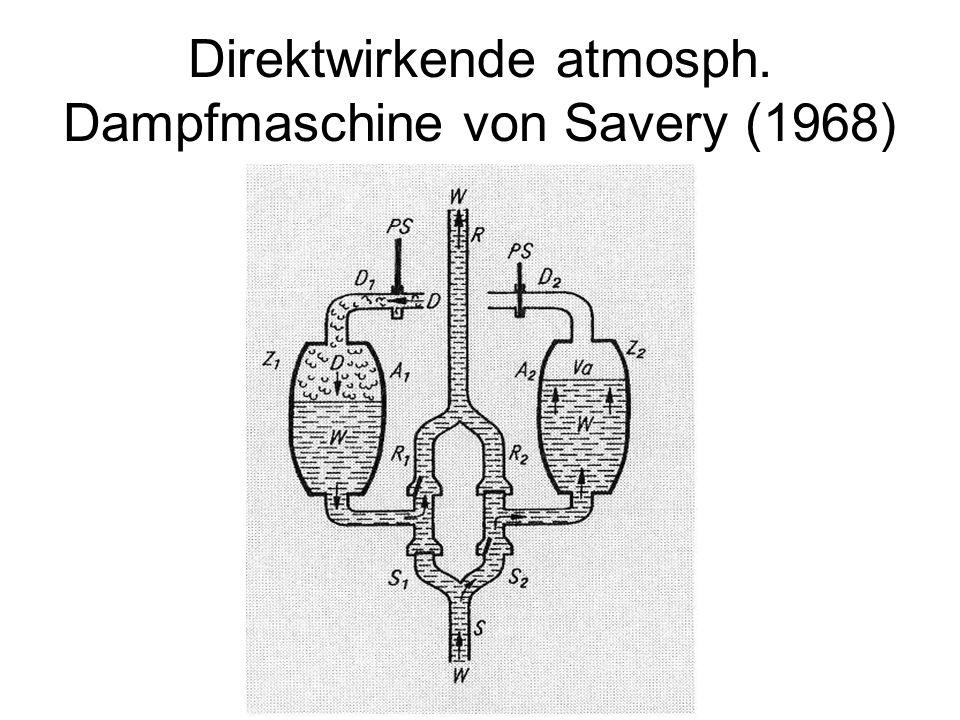 Direktwirkende atmosph. Dampfmaschine von Savery (1968)