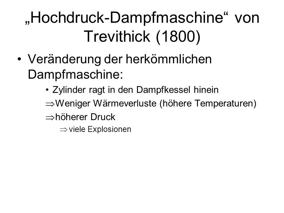 """""""Hochdruck-Dampfmaschine von Trevithick (1800)"""