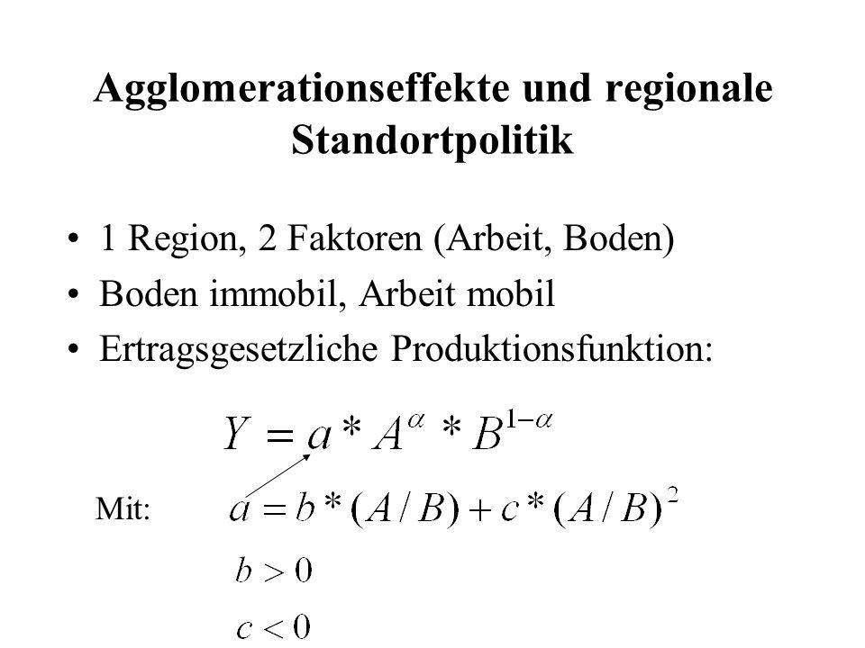 Agglomerationseffekte und regionale Standortpolitik