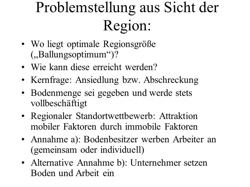 Problemstellung aus Sicht der Region: