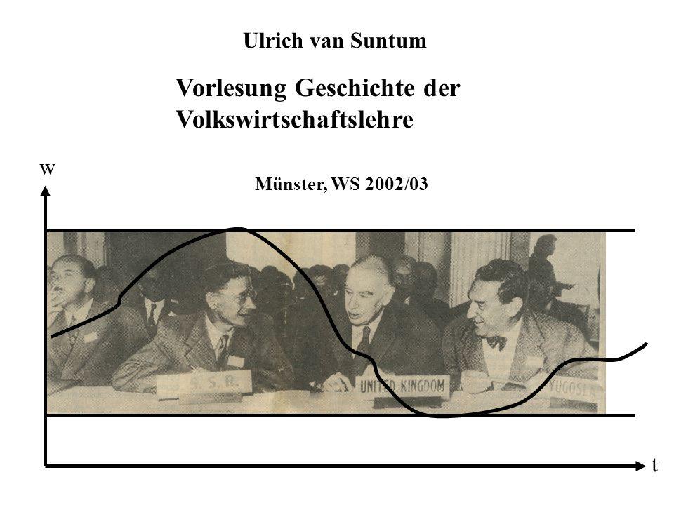 Vorlesung Geschichte der Volkswirtschaftslehre