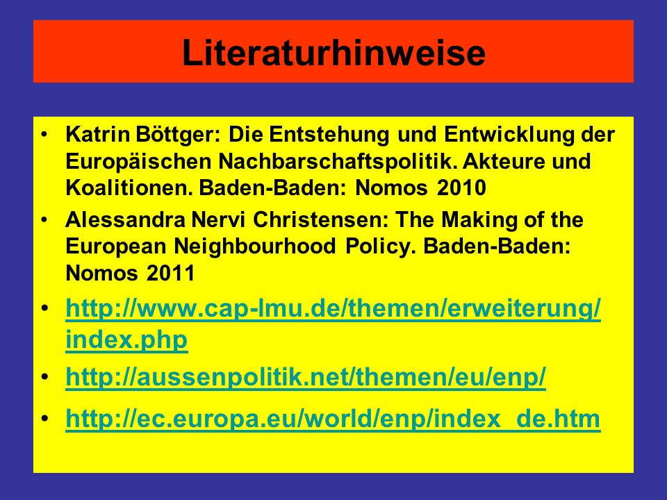 Literaturhinweise http://www.cap-lmu.de/themen/erweiterung/ index.php