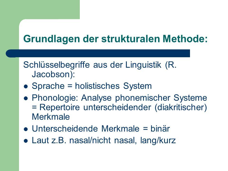 Grundlagen der strukturalen Methode: