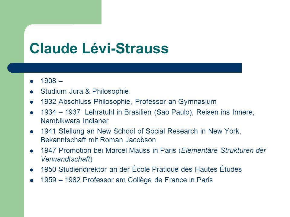 Claude Lévi-Strauss 1908 – Studium Jura & Philosophie
