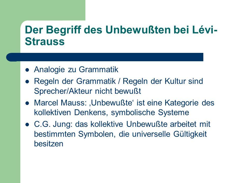 Der Begriff des Unbewußten bei Lévi-Strauss