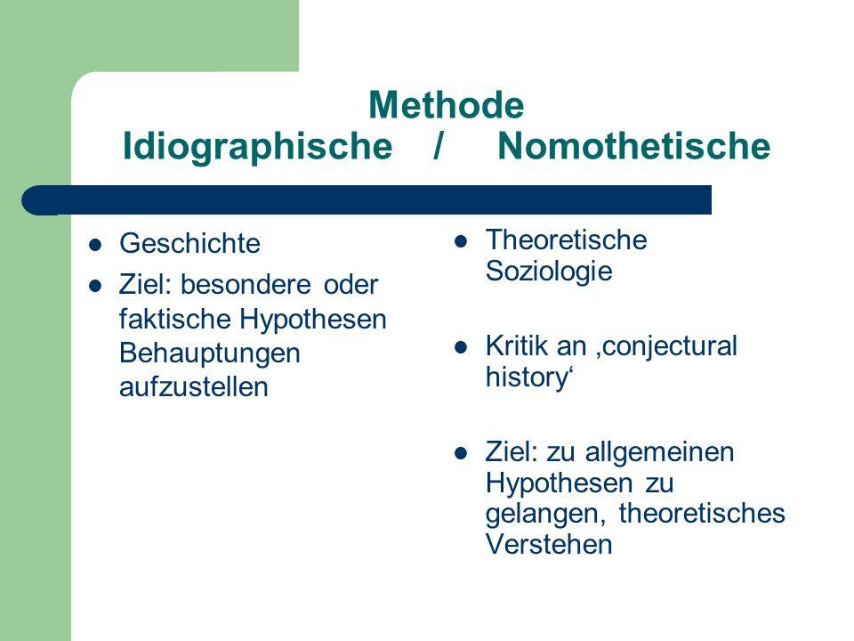 Methode Idiographische / Nomothetische