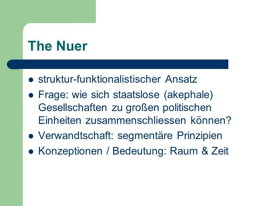 The Nuer struktur-funktionalistischer Ansatz