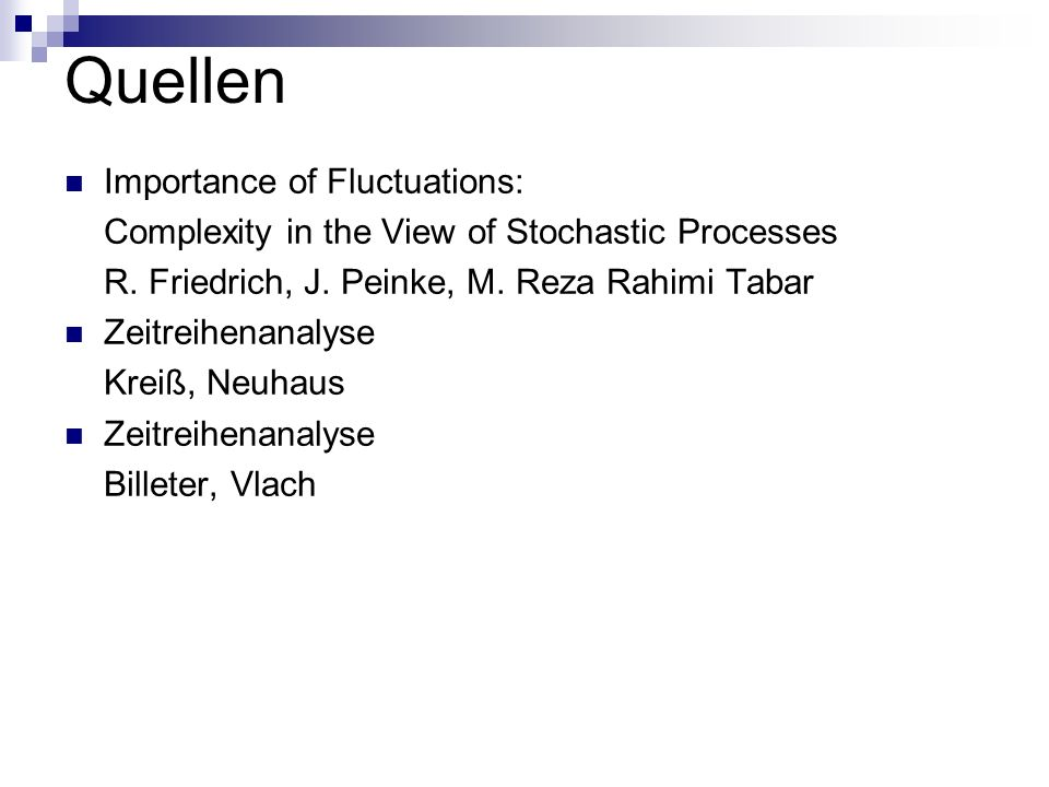 Quellen Importance of Fluctuations: