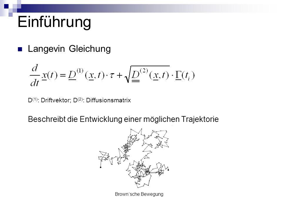 Einführung Langevin Gleichung