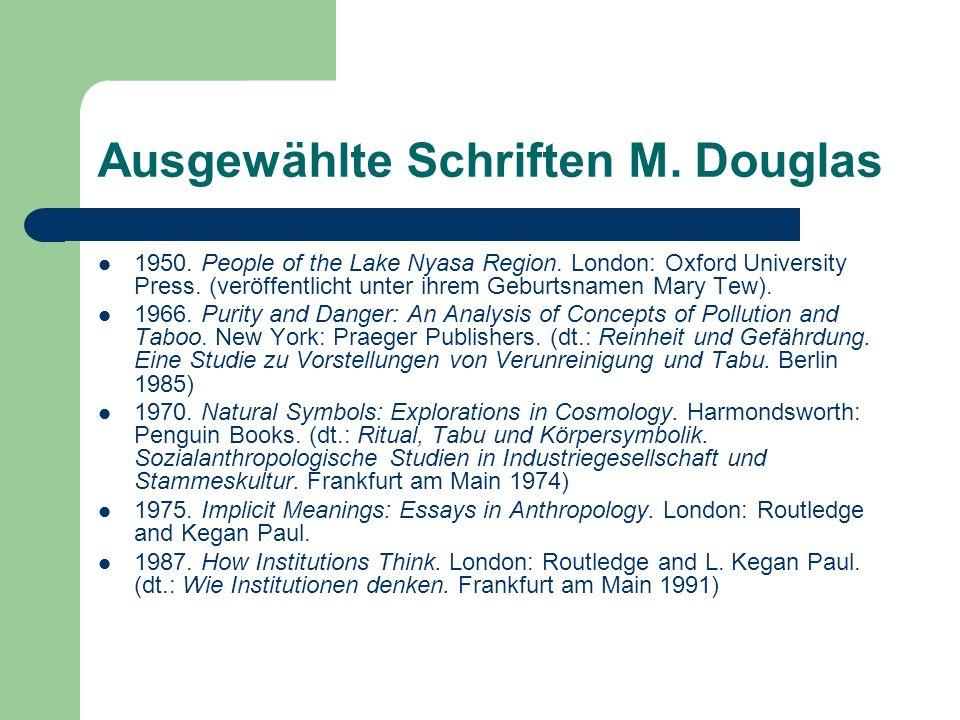 Ausgewählte Schriften M. Douglas