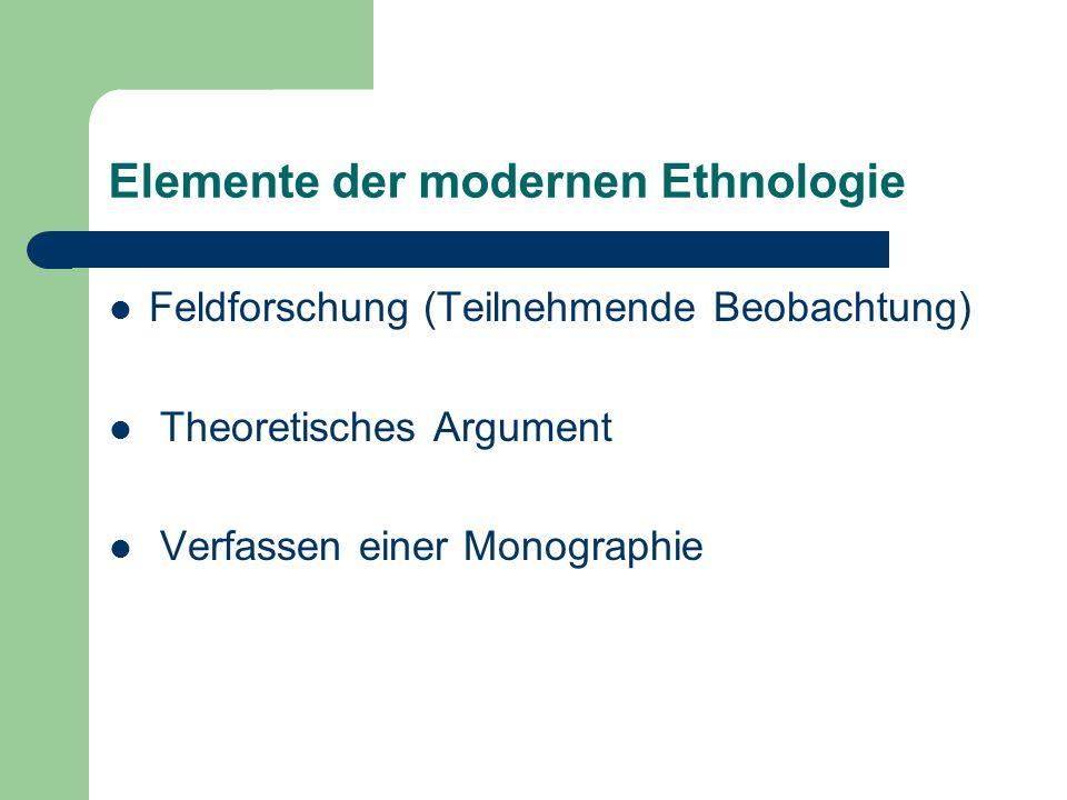 Elemente der modernen Ethnologie