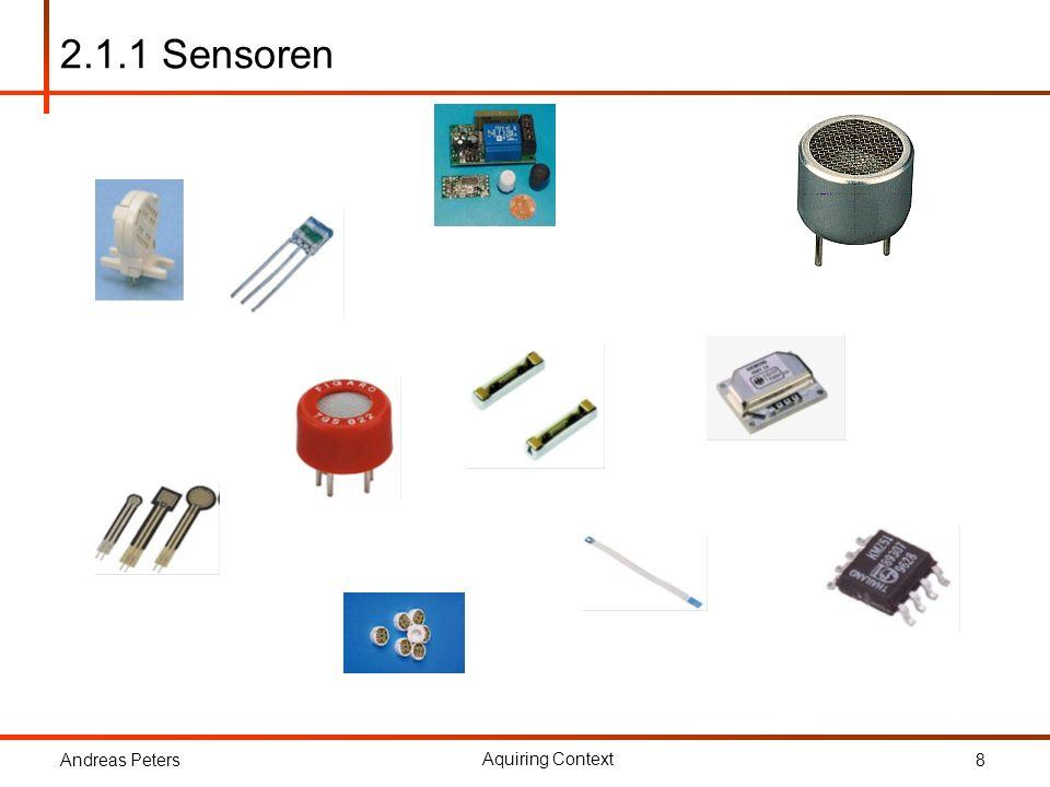 2.1.1 Sensoren