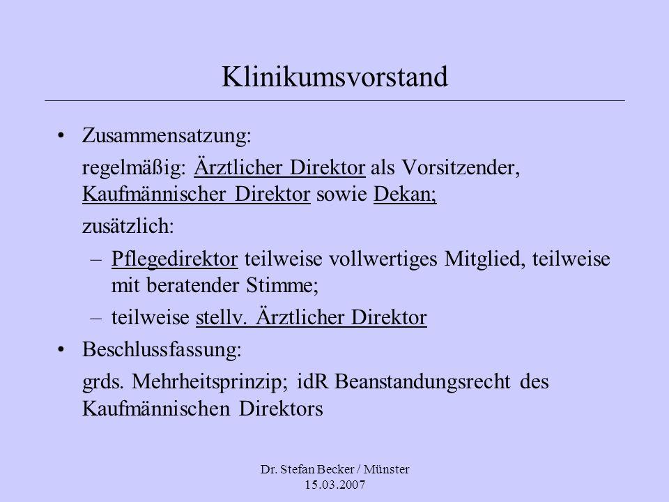 Dr. Stefan Becker / Münster 15.03.2007
