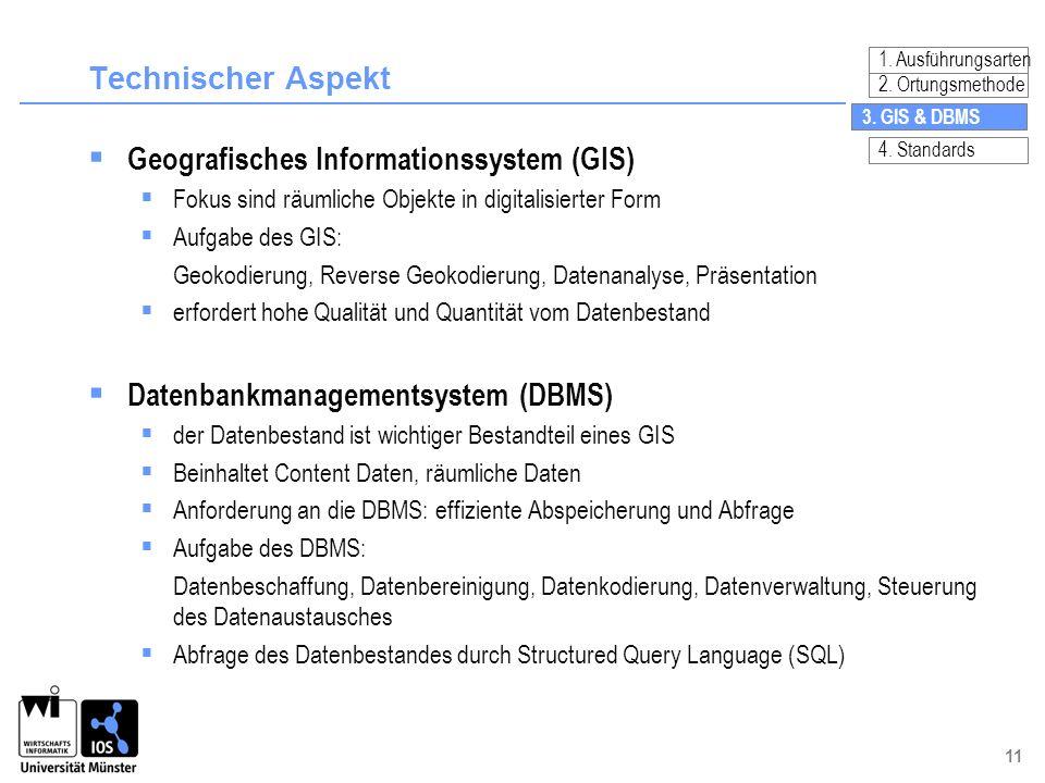 Geografisches Informationssystem (GIS)