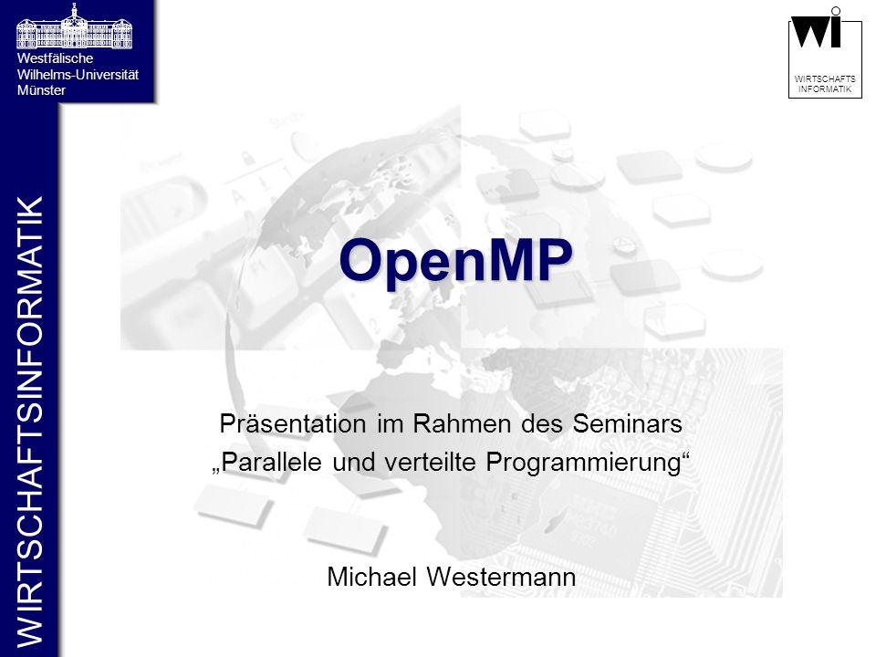 OpenMP Präsentation im Rahmen des Seminars