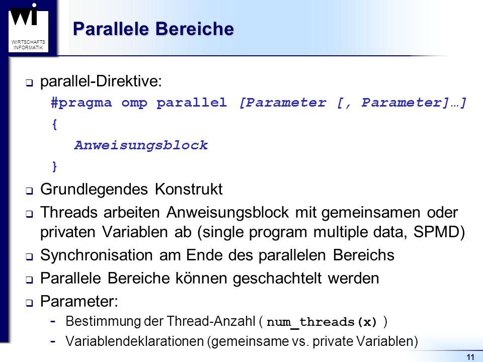 Parallele Bereiche parallel-Direktive: Grundlegendes Konstrukt