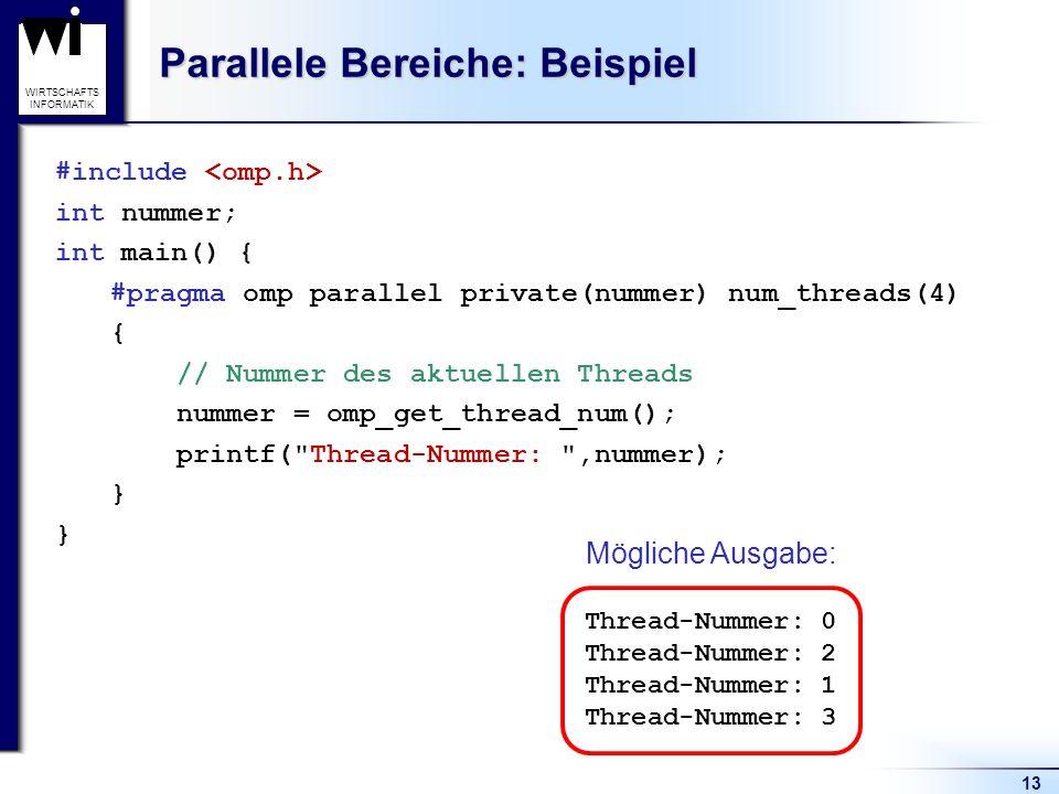 Parallele Bereiche: Beispiel