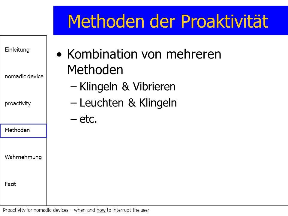 Methoden der Proaktivität