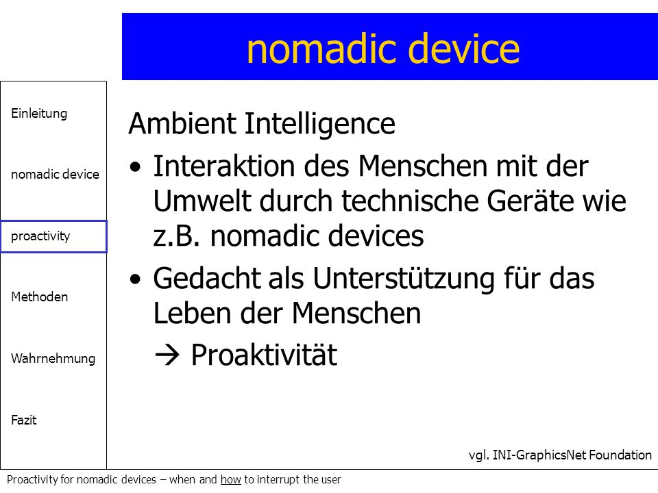 nomadic device Ambient Intelligence