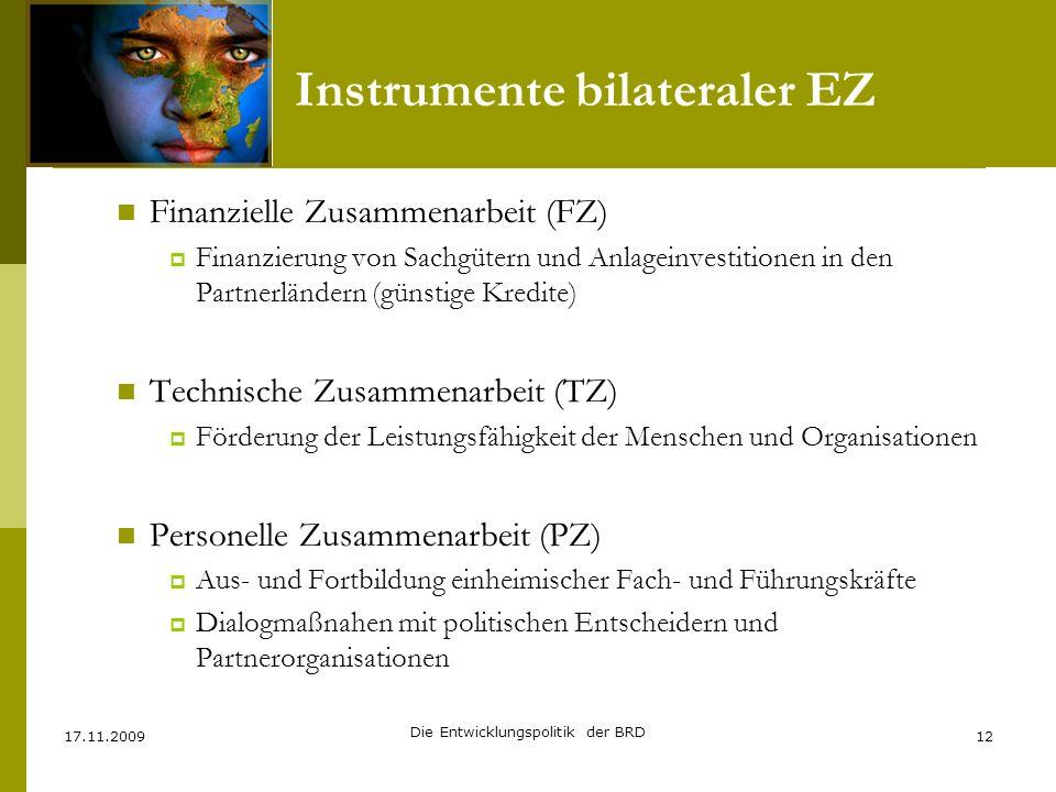Instrumente bilateraler EZ