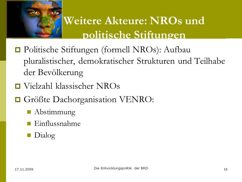 Weitere Akteure: NROs und politische Stiftungen