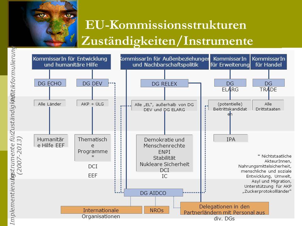 EU-Kommissionsstrukturen: Zuständigkeiten/Instrumente