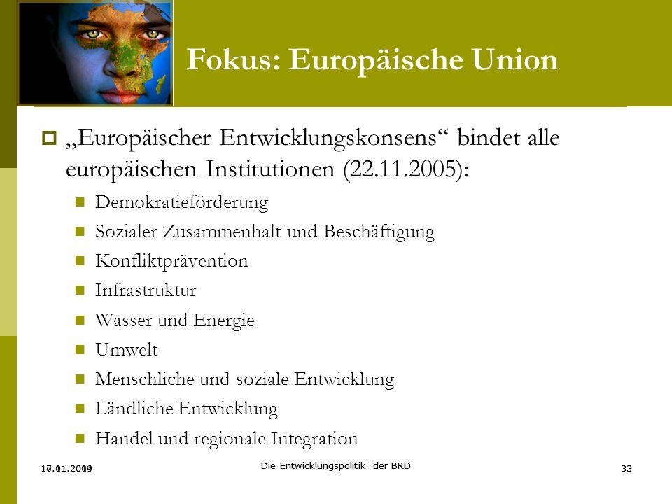 Fokus: Europäische Union
