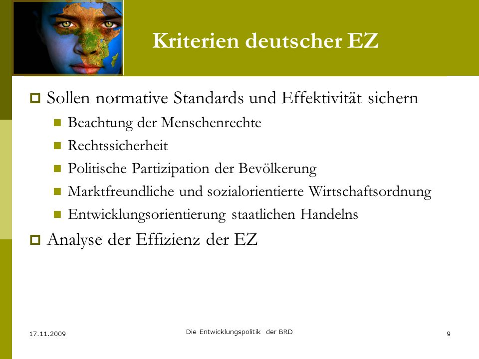 Kriterien deutscher EZ