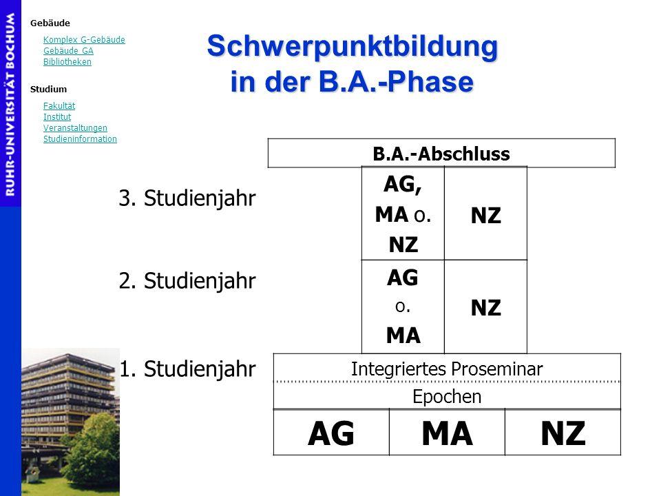 Schwerpunktbildung in der B.A.-Phase