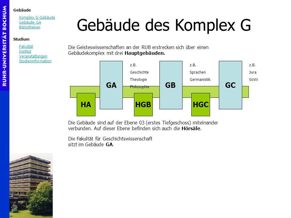 Gebäude des Komplex G GA GB GC HA HGB HGC