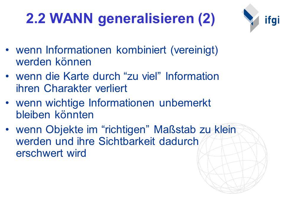 2.2 WANN generalisieren (2)