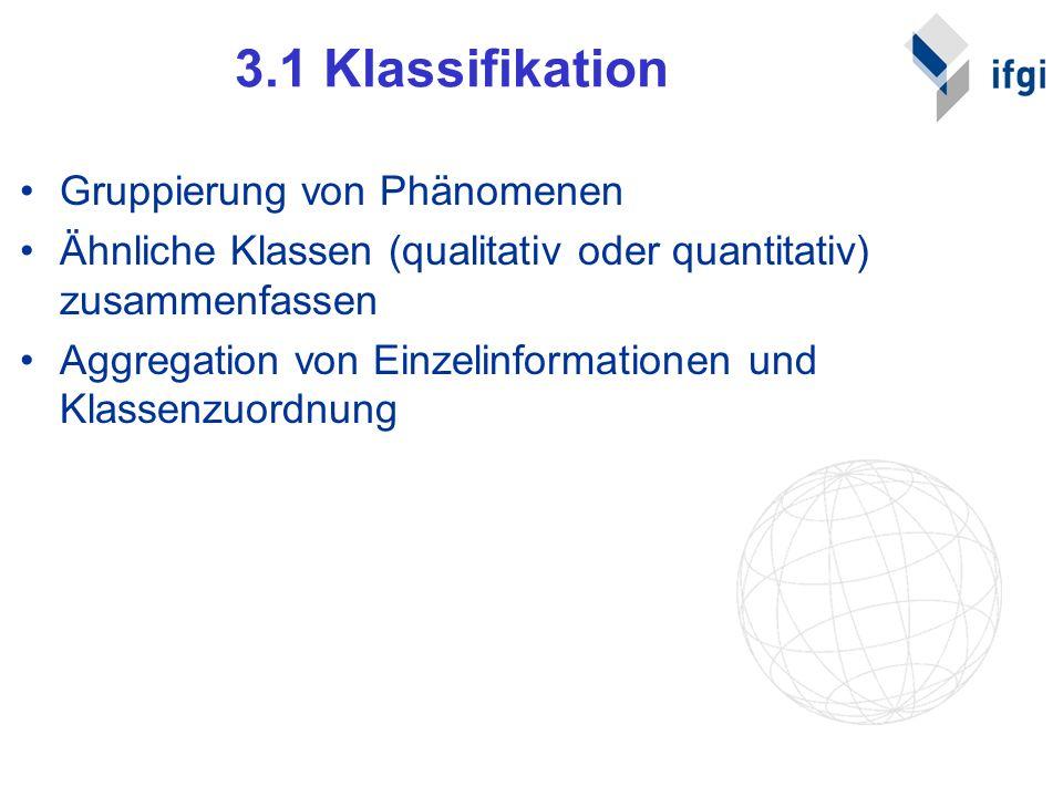 3.1 Klassifikation Gruppierung von Phänomenen