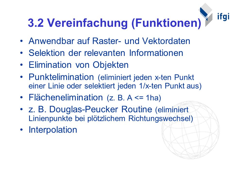 3.2 Vereinfachung (Funktionen)