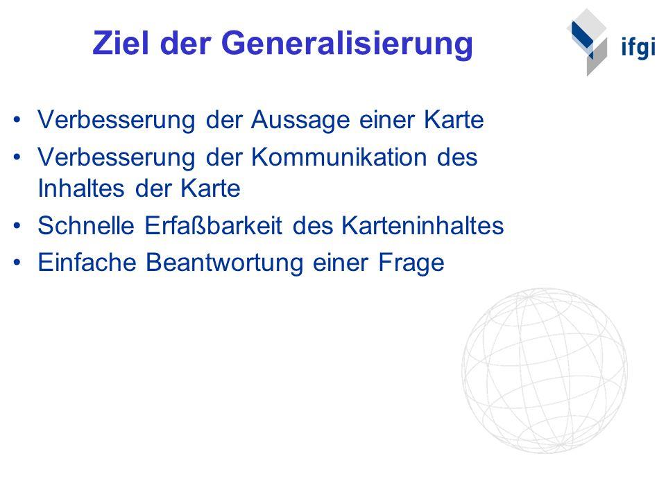 Ziel der Generalisierung