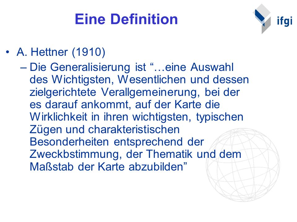 Eine Definition A. Hettner (1910)
