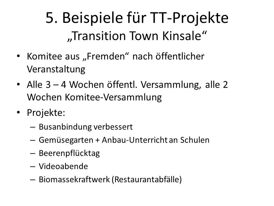 """5. Beispiele für TT-Projekte """"Transition Town Kinsale"""