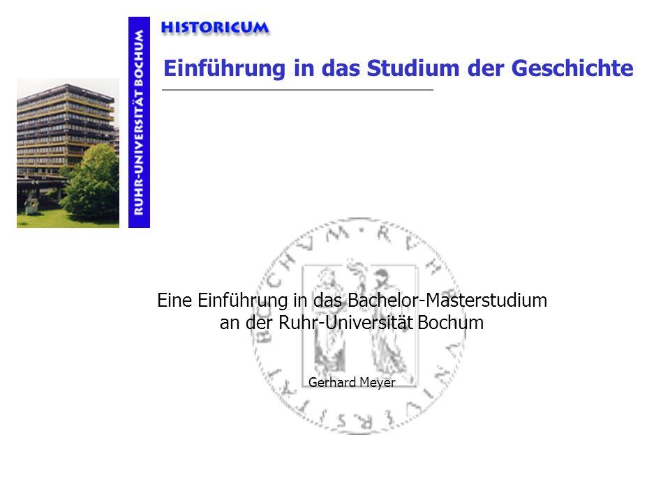 Eine Einführung in das Bachelor-Masterstudium an der Ruhr-Universität Bochum