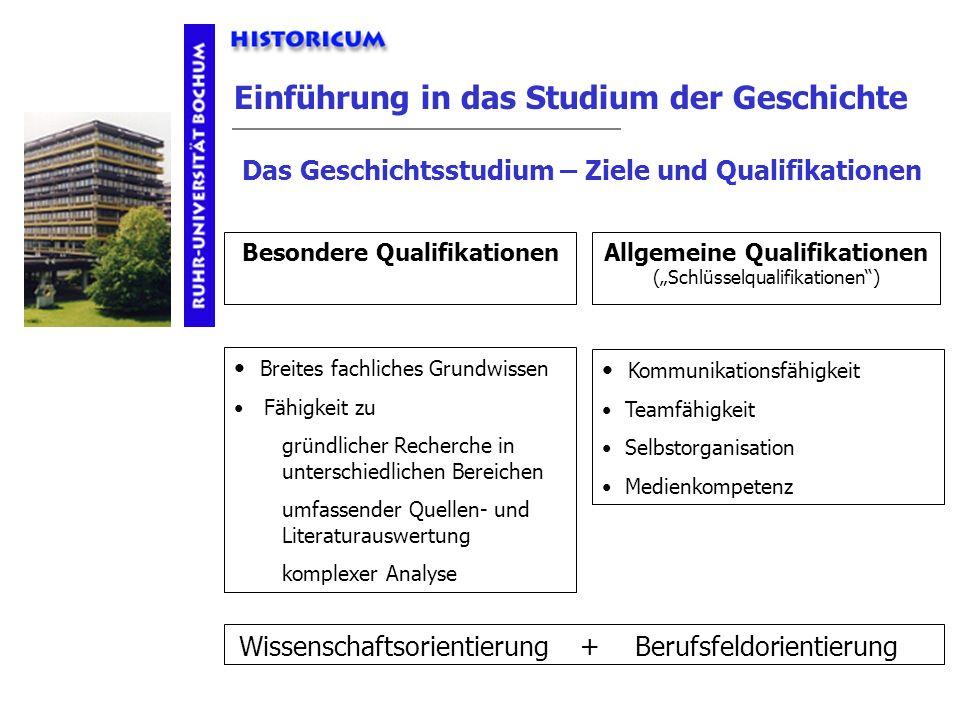 Besondere Qualifikationen Allgemeine Qualifikationen