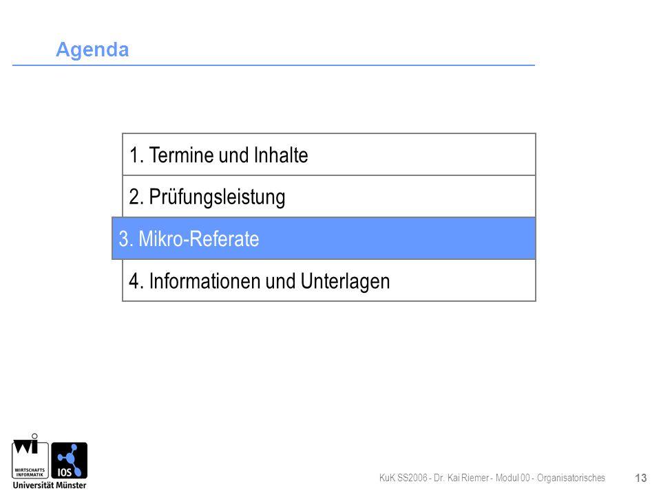 4. Informationen und Unterlagen