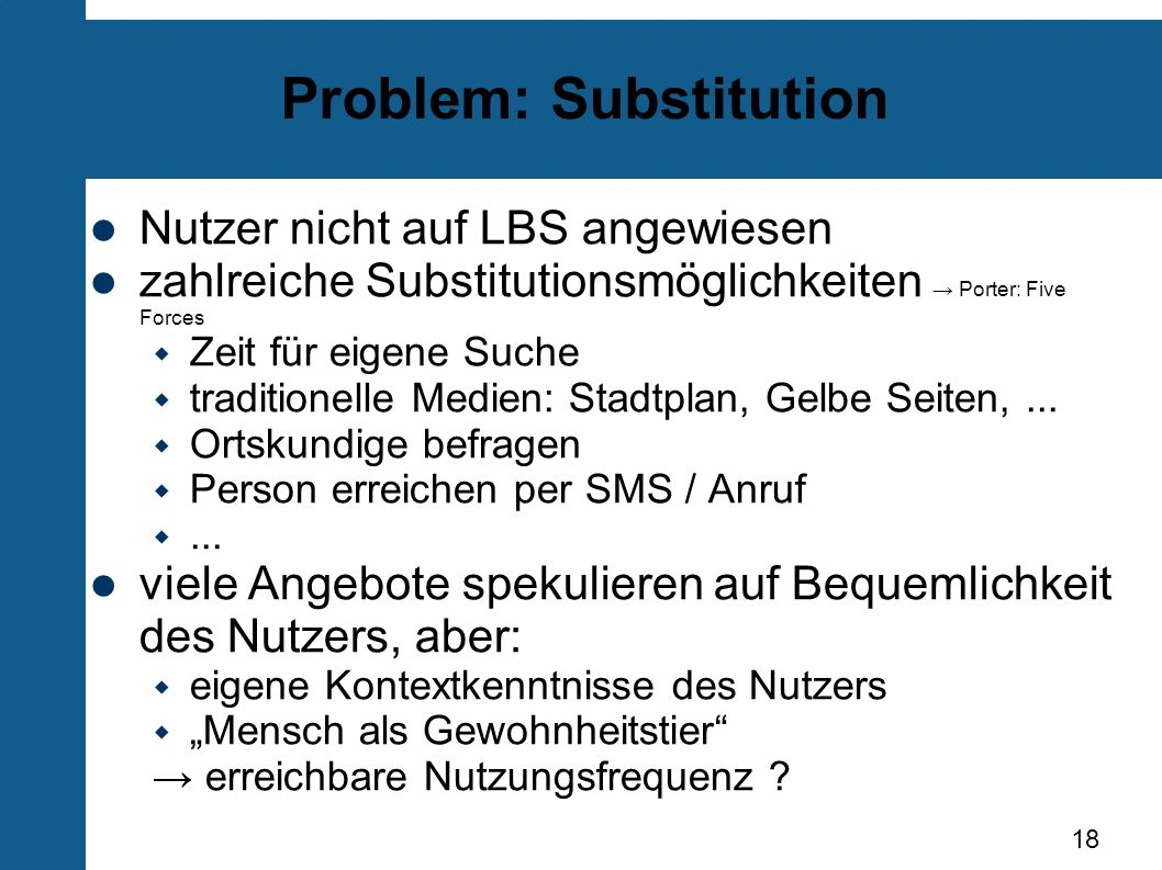 Problem: Substitution