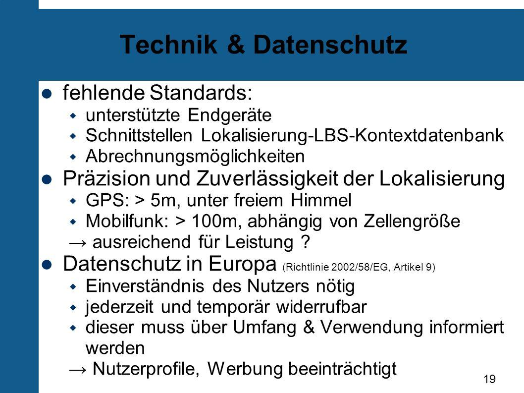 Technik & Datenschutz fehlende Standards: